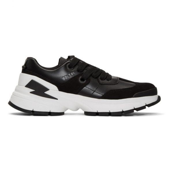 Neil Barrett Black Bolt01 Sneakers