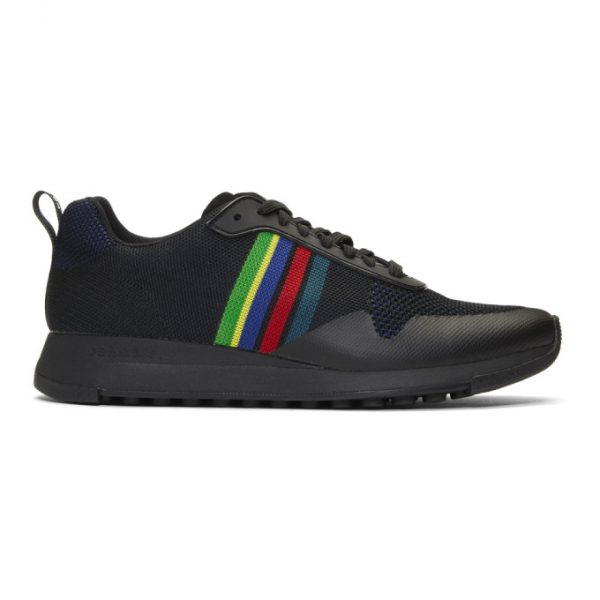 PS by Paul Smith Black Sports Stripe Rappid Sneakers