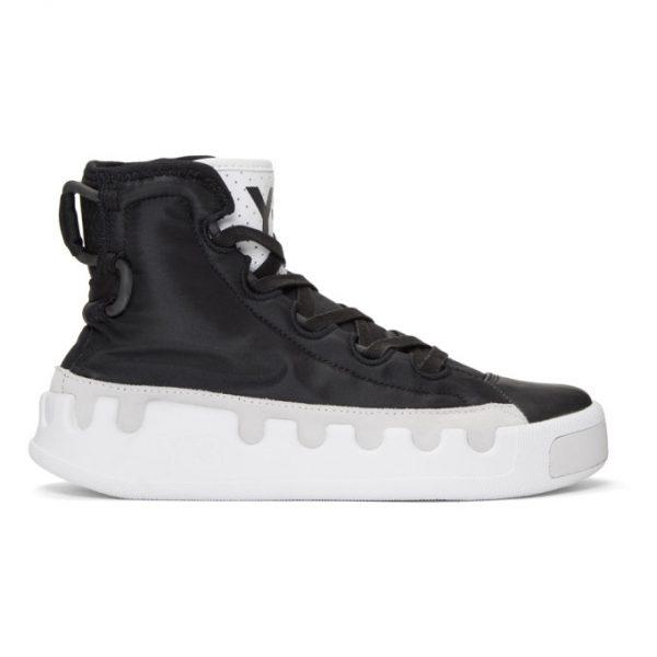 Y-3 Black Kasabaru High-Top Sneakers