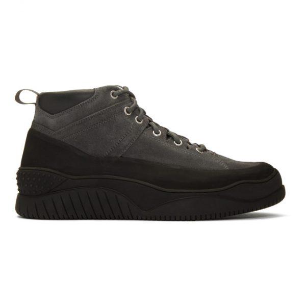 nonnative Grey Hiker Trainer Mid Sneakers
