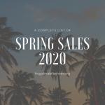 Spring Sales 2020 List